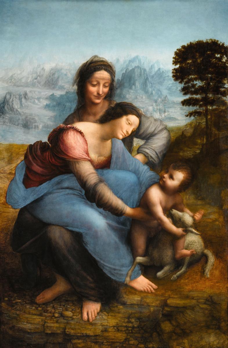 Museoteca La Virgen El Niño Jesús Y Santa Ana Leonardo Da Vinci