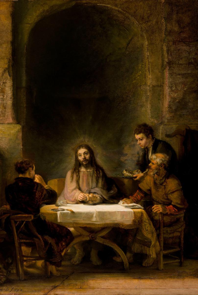 Museoteca - Le Christ se révélant aux pèlerins d'Emmaüs, Rembrandt ...