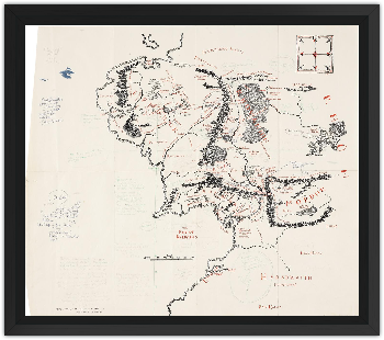 Museoteca - Annotated Map of Middle-earth, J R R  Tolkien